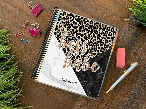Boss Babe Leopard |  12 Month Planner (generic)