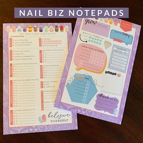 NAIL BIZ / COLOR STREET  daily biz task notepad (pad of 30 sheets)
