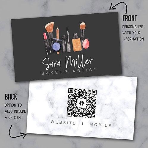 Custom Biz Card - Makeup Bundle Graphite