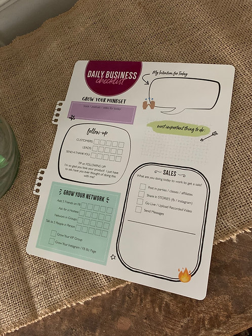 Daily Checklist Insert for Planners