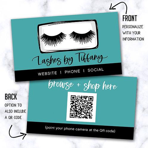 Custom Biz Card - Tiffany Lashes