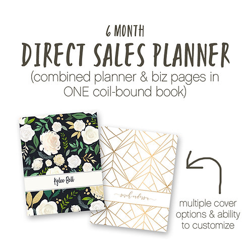 JUL - DEC 6 Month Planner Direct Sales Planner