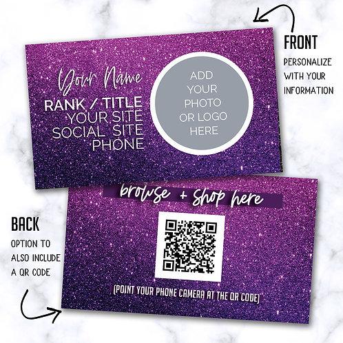 Custom Biz Card - Pink & Purple Sparkle