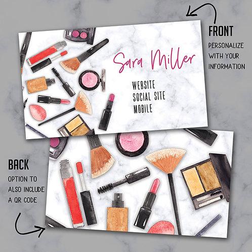 Custom Biz Card - Makeup Bundle