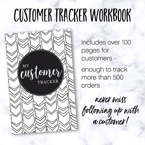 Customer Notebook PDF (instant download)
