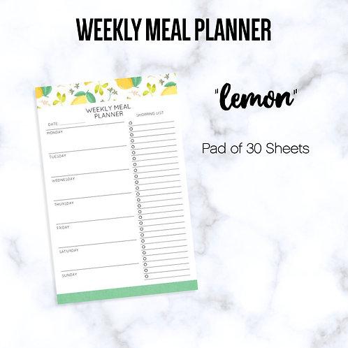 """LEMON"" Meal Planning Notepads"