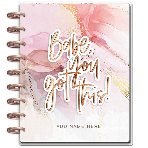 """Planner Cover - for Disc Planners """"Babe You Got This"""""""
