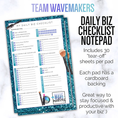 WAVEMAKERS Custom Team Daily Biz Checklist