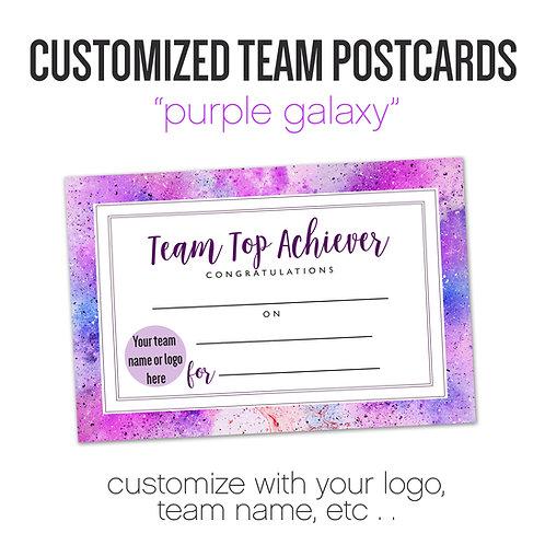 """PURPLE GALAXY"" Customized Team Postcard"