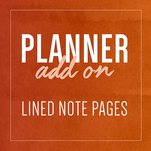 NOTES Planner Add Ons