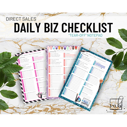 DAILY BIZ Task Sheets (pad of 30 sheets)