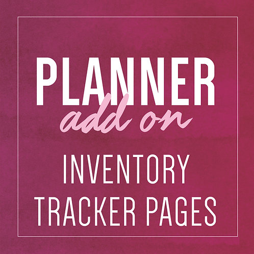 INVENTORY TRACKER PAGES - Planner Add Ons