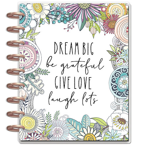 """Planner Cover - for Disc Planners """"Dream Big"""""""