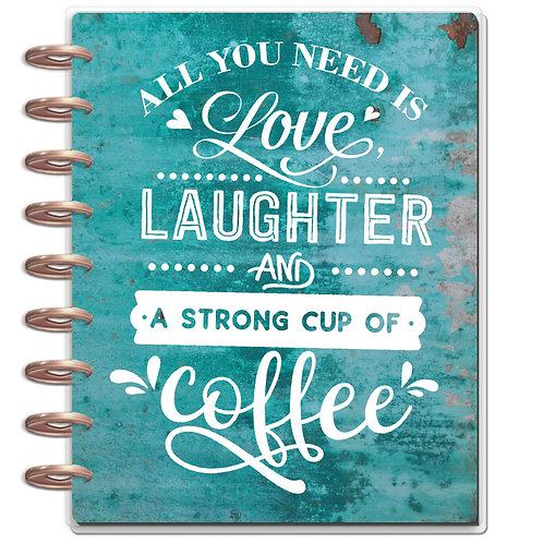 """Planner Cover - for Disc Planners """"Love & Coffee"""""""