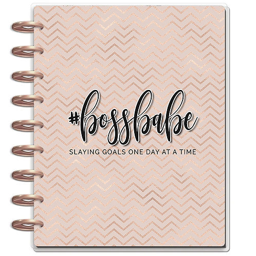 "Planner Cover - for Disc Planners ""Boss Babe Rose Gold"""