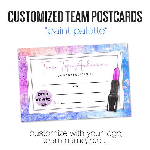 """PAINT PALETTE"" Customized Team Postcard"