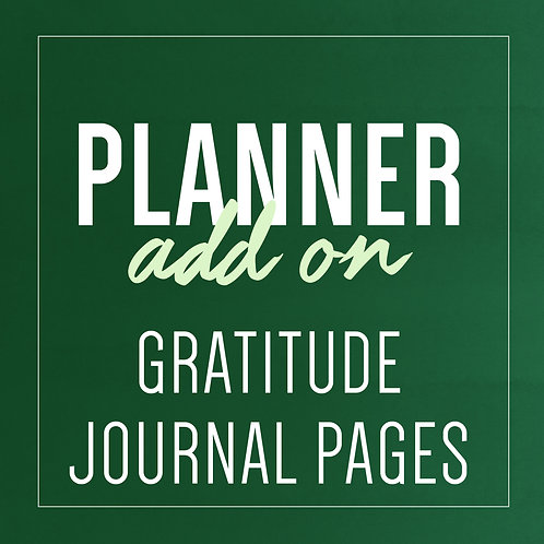 GRATITUDE JOURNAL PAGES - Planner Add Ons