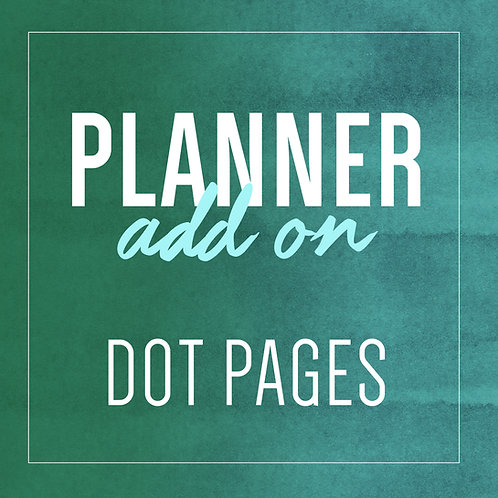 DOT PAGE Planner Add Ons