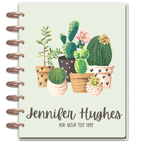 """Planner Cover - for Disc Planners """"Cactus"""""""