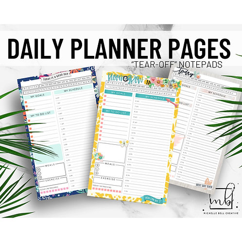 Daily Planner Pages (pad of 30 sheets)