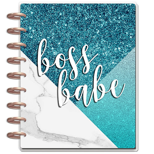 """Planner Cover - for Disc Planners """"Boss Babe Blue"""""""