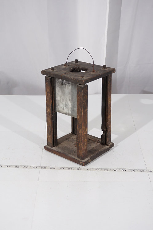 Early 1800s Primitive Handheld Lantern