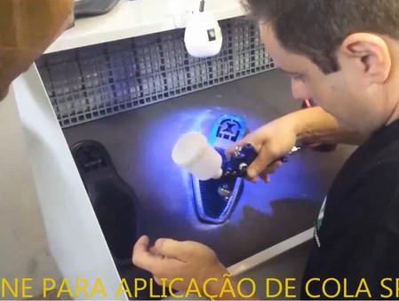 GABINE PARA APLICAÇÃO DE COLA SPRAY