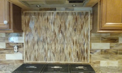 Stained glass tile mosaic & Field ti