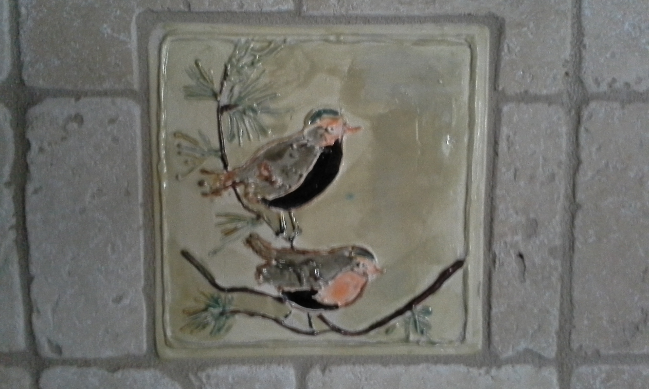Handmade Bird tile
