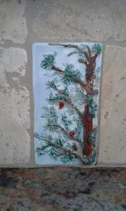 Pine tree relief
