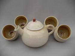 Tea Set- Rasp Cream