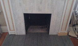 Rough Marble Fireplace