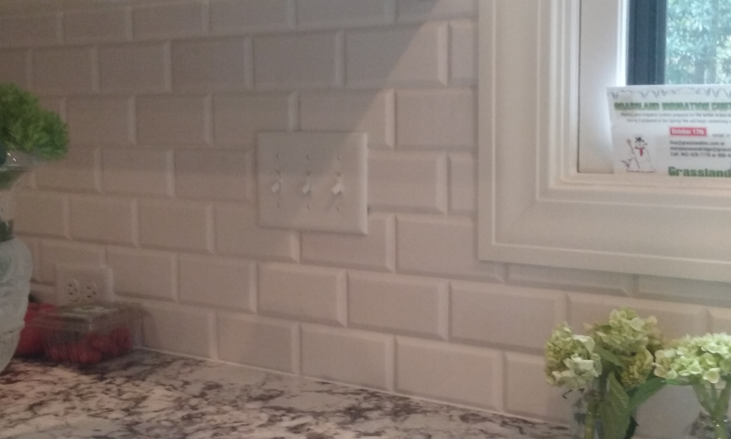 Beveled Marble Backsplash