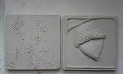 Greenware tiles