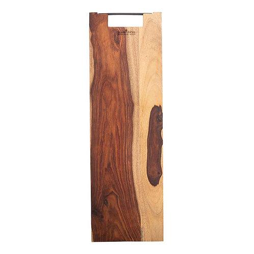 Pure Rose Wood Serveerplank recht met metalen handvat 69 cm