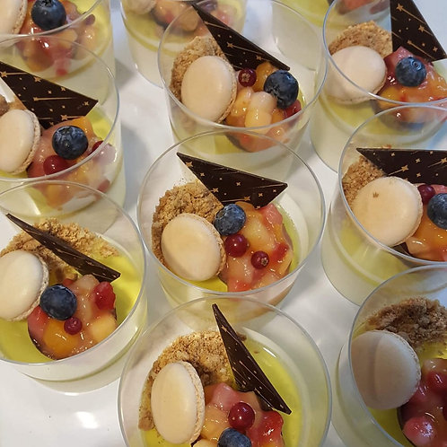 crème van karnemelk en limoncello | Vlaams fruit | crumble