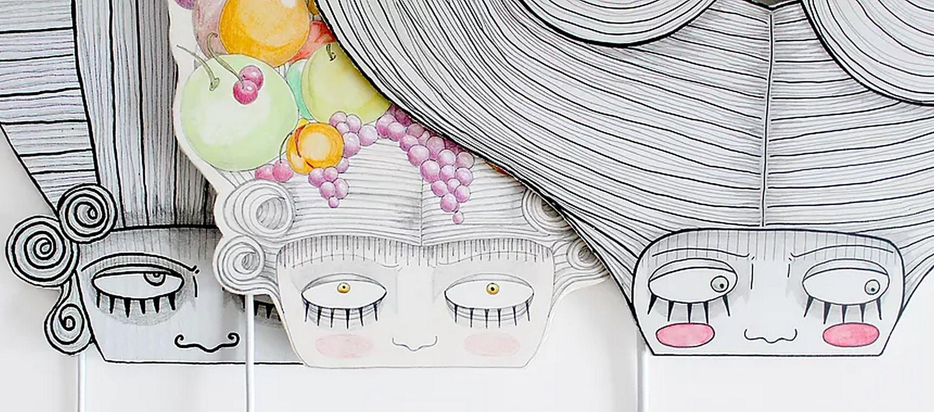 Chapeau, Miss Guillotine, Bacchus Mask.j