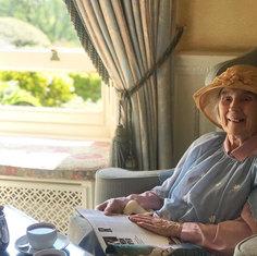 Nana having afternoon tea...