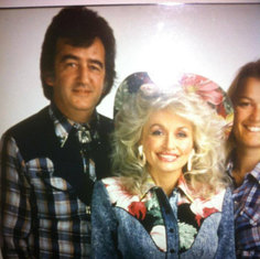 Dad after performing with Dolly Parton