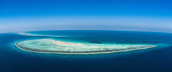 Aerial view of an exquisite island low r
