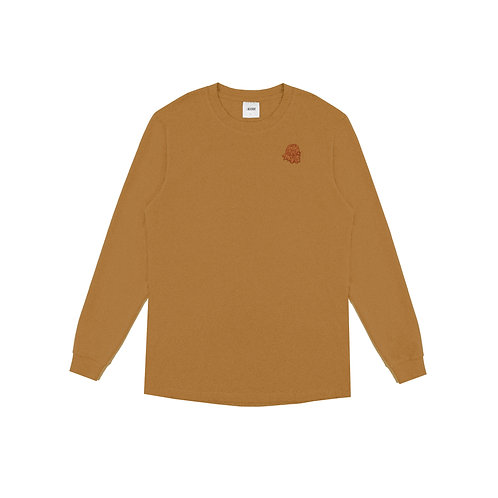KOR Embroidered Long Sleeve Gold
