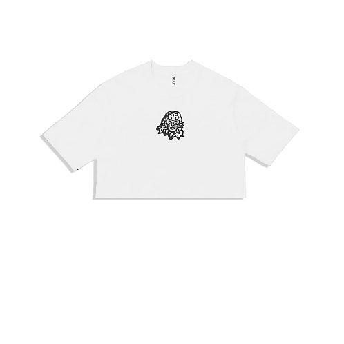 Women's crop top white