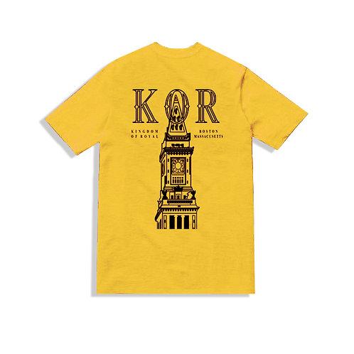 KOR Clock Tower Tee Yellow