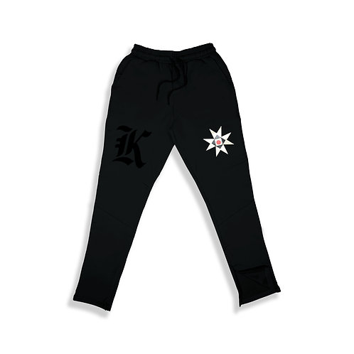 K & EMBLEM TECH PANTS BLACK