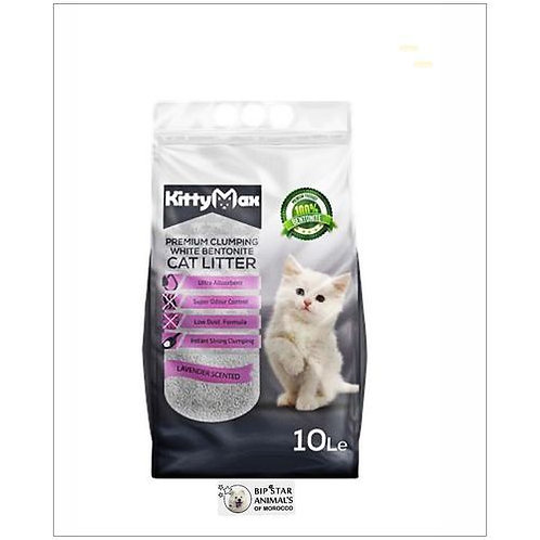 Litière agglomérante Kitty Max - lavande - 10 litres