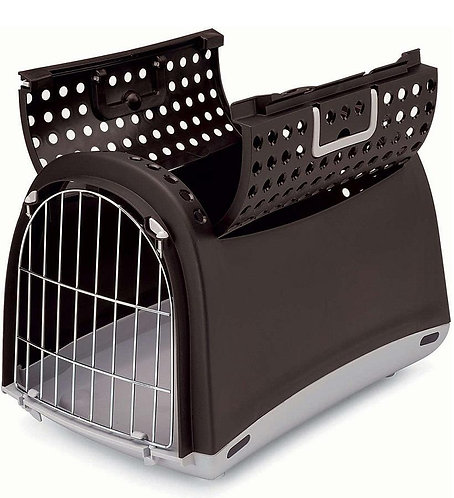 Caisse de transport Linus CABRIO pour chien et chat - MARRON