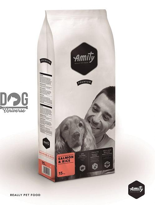 AMITY Premium Adulte Saumon & Riz pour Chien Adulte 15 KG