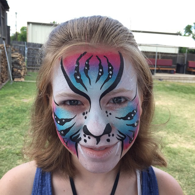 Instagram - #tigerfacepaint #epicbodypaintATX #nevergetsold #birthdayparty #rain