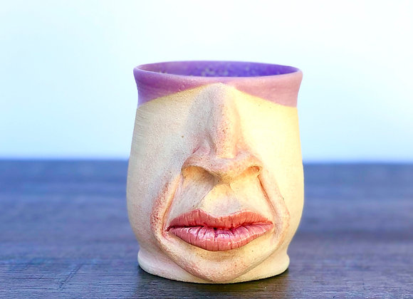 Purple face mug