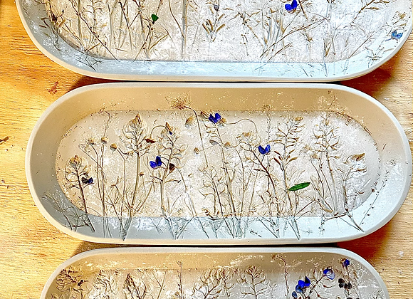 PREORDER Bluebonnet Rounded Rectangle tray set of 3